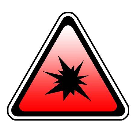 Triangle  Splash Warning Sign - Symbol, White Background Stock Photo - 3947947