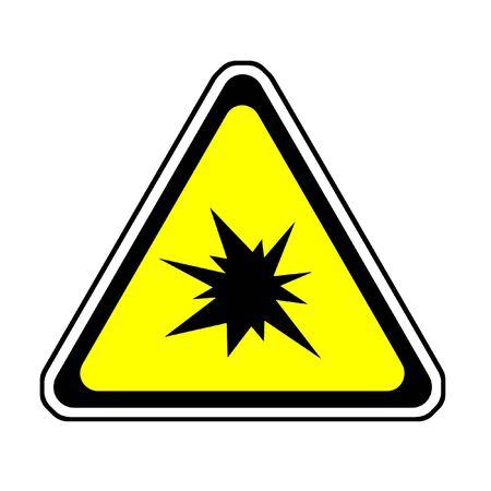 Triangle  Splash Warning Sign - Symbol, White Background Stock Photo - 4229793