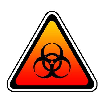 fallout: Biohazard Warning Sign, Bio Hazard Symbol, White Background Stock Photo