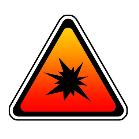 Triangle  Splash Warning Sign - Symbol, White Background Stock Photo - 4657607