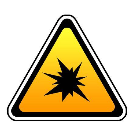 Triangle  Splash Warning Sign - Symbol, White Background Stock Photo - 4703711