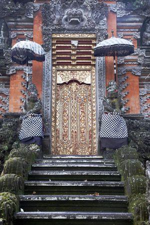 Golden Door - Old Bali Temple Entrance, Indonesia Stock Photo
