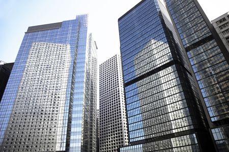 Tall High Rise Urban Office Building In Hong Kong, China