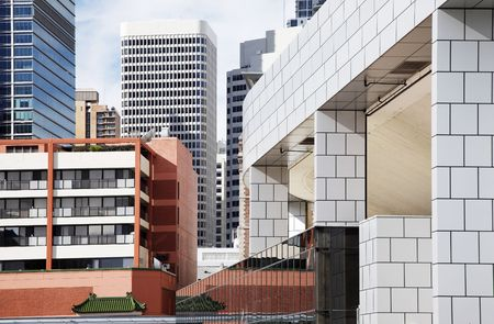 Modern Tall Urban Office Buildings In Sydney, Australia Stock Photo