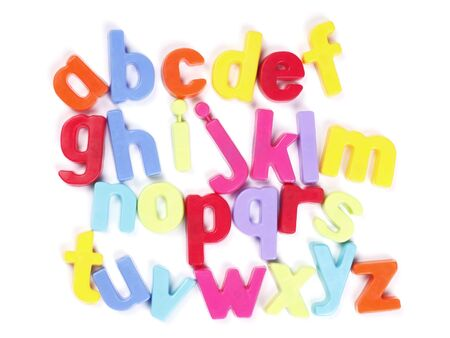 Alphabet, Colourful Fridge Magnets, Set of Letters Stock Photo - 5156633