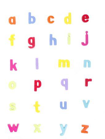 Alphabet, Colourful Fridge Magnets, Set of Letters, ABC Stock Photo