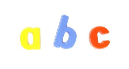 ABC - Colourful Fridge Magnets, Set of Letters Stock Photo