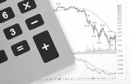 Business Chart - Crash, Decreasing Graph, Calculator