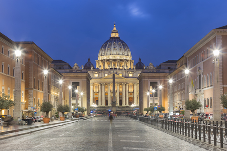 St. Peters Square, Vatican, Rome, Italy Editorial