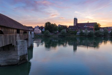Bad Saeckingen met houten brug