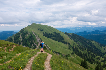 female hiker in the german alps