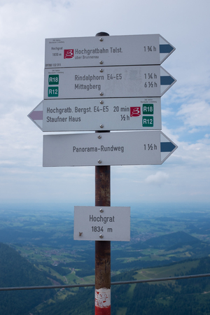 hiking path in the german alps, bavaria allgau