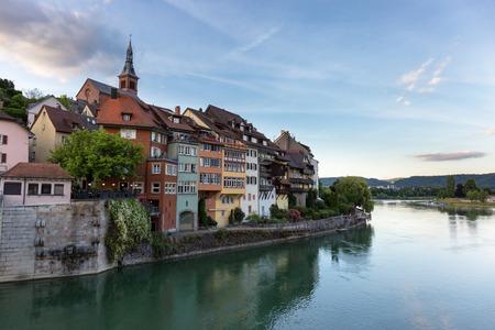 Laufenburg in Baden Wuerttemberg op de Rijn, Duitsland