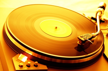 ambient turntable Stock Photo