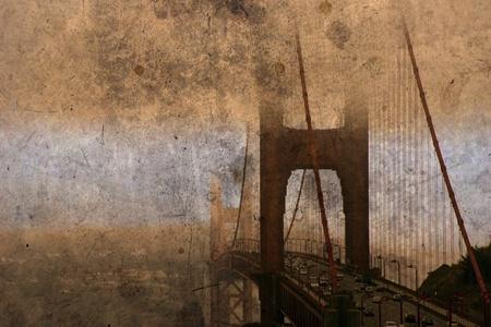 golden gate: grunge de puente golden gate de San francisco