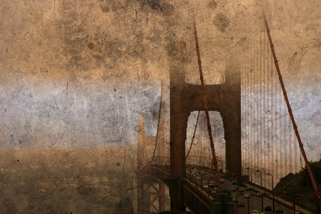 san francisco golden gate bridge grunge photo