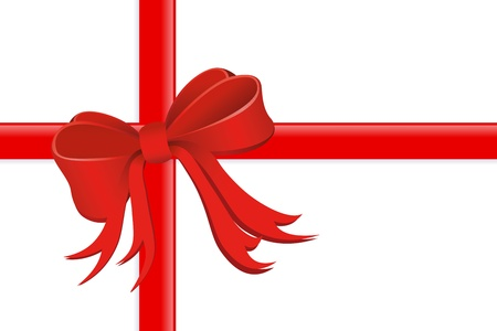 present wrapped with silk ribbon  Stock Photo