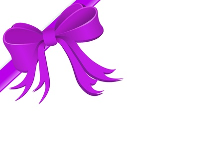 festively: Present wrapped with silk ribbon  Stock Photo