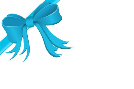 in the loop: Present wrapped with silk ribbon  Stock Photo