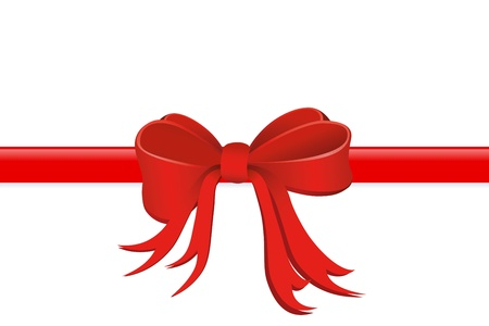 loops: Present wrapped with silk ribbon  Stock Photo