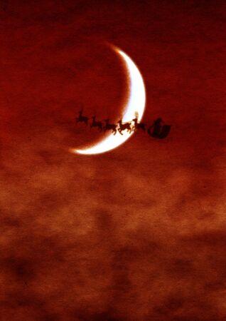 tonight: santa claus is coming tonight Stock Photo