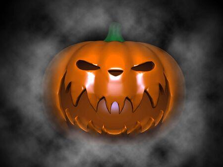 3d scary: halloween pumpkin