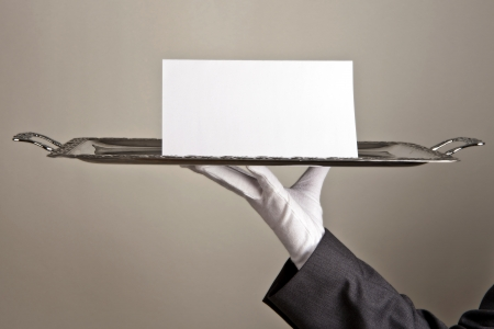 selling service: first class service Stock Photo
