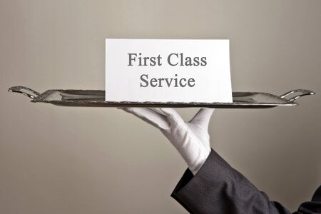 first class service Stock Photo