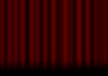 hollywood christmas: red curtain