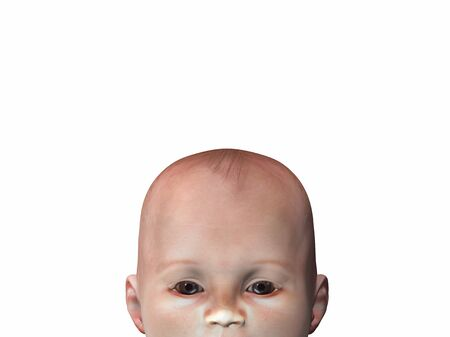 baby 3d illustration Stock Illustration - 10480707