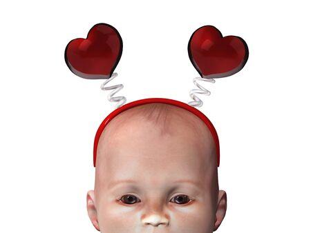 baby 3d illustration Stock Illustration - 10480752
