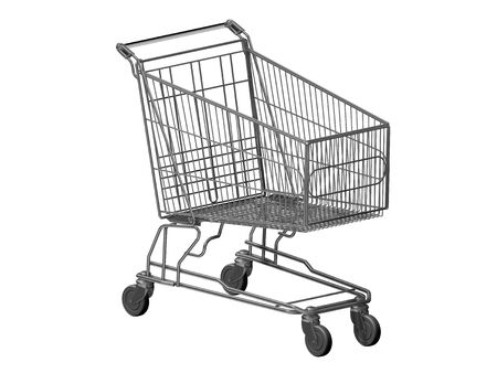 consumerist: shopping cart Stock Photo