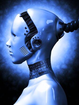 alien women: robotic girl