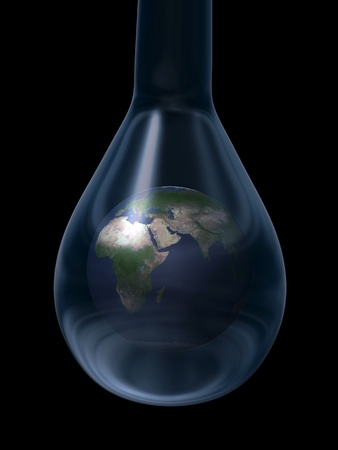 world in a water drop photo