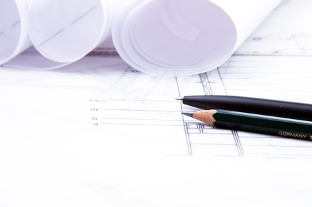 Het plan van een gebouw platform