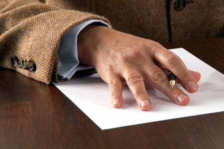 business man signing contract Stock Photo - 10512458