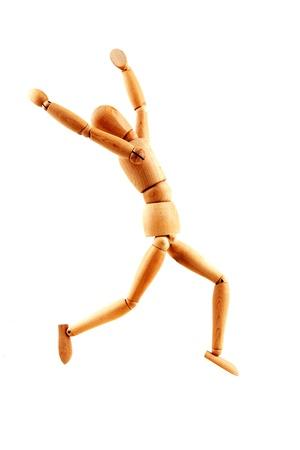marioneta de madera: escape