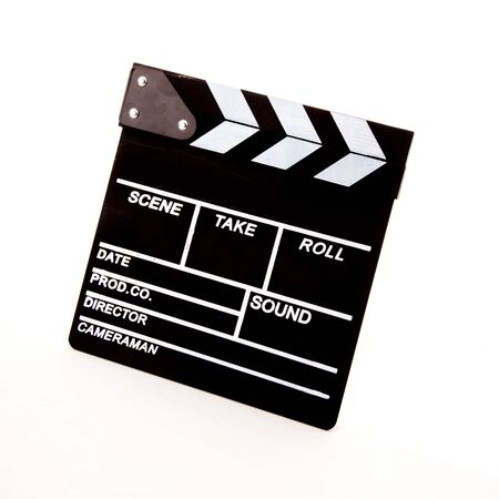celluloid film: movie clapper
