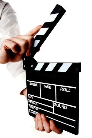clapperboard: movie clapper