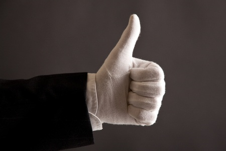 thumbs up for first class service Stock Photo - 10512610
