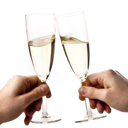 brindisi champagne: celebrazione Archivio Fotografico