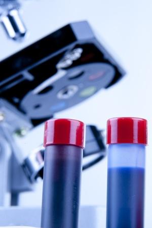 lens unit: microscope science Stock Photo