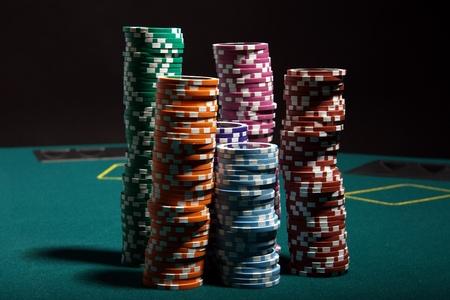 fichas casino: Juego de poker Foto de archivo