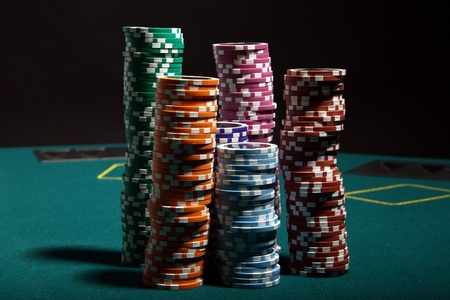 Poker gambling Stock Photo - 10512398