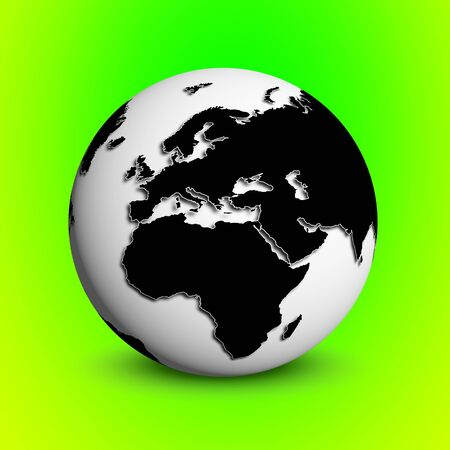 globe green backround photo