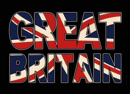 backround: great britain typo