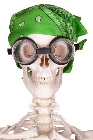 pubertad: biker verde pa�uelo en la cabeza Foto de archivo