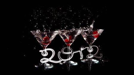 happy 2012 white Stock Photo - 10818122