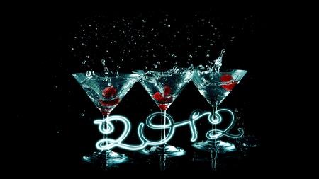 happy 2012 blue Stock Photo - 10818125