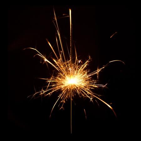 jahreswechsel: sparkler Stock Photo